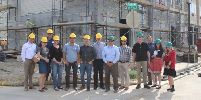 Mayor Folsom and Town Trustees visit Downtown Superior